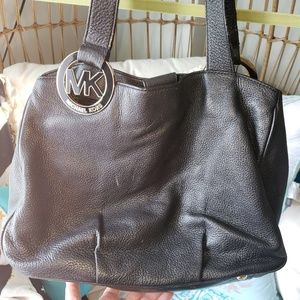 🇺🇸AUTHENTIC Michael Kors Black Leather Tote